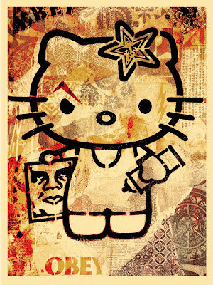 Sanrio x Obey Giant Hello Kitty Screen Print by Shepard Fairey