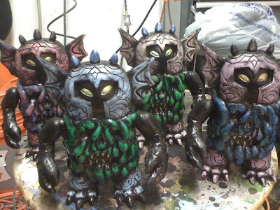 The Outsider Lich of the Shunned Plains Resin Figure Production Rub Colorway by Skinner and DeadBear Studios