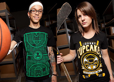 Johnny Cupcakes Black Friday 2010 Releases - Full Court Press & Hockey T-Shirts