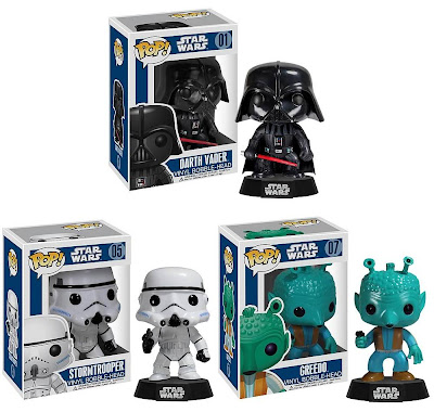Star Wars Pop! Vinyl Bobble Heads Series 1 by Funko - Darth Vader, Stormtrooper & Greedo