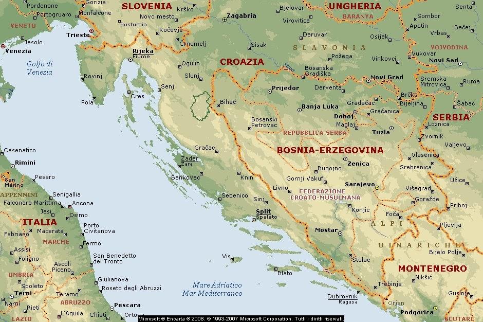 Cartina Muta Della Croazia.Croazia Mappa