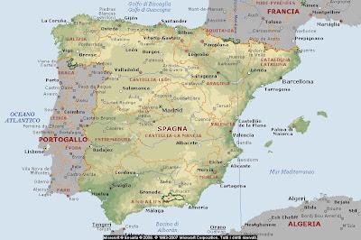 Cartina Spagna.Geografia Carta Geografica Europa Cartina Europa Spagna