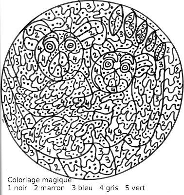 Maternelle Coloriage Magique Une Maman Koala Et Son Bébé