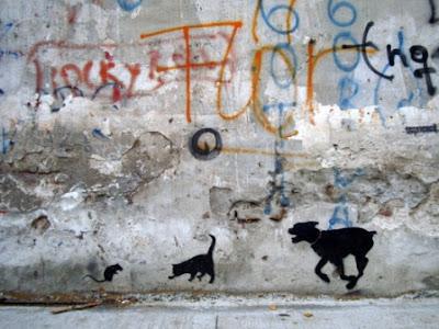 tanque stencil rat cat dog buenos aires street art tour buenosairesstreetart.com