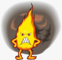 Brennender Geldschein