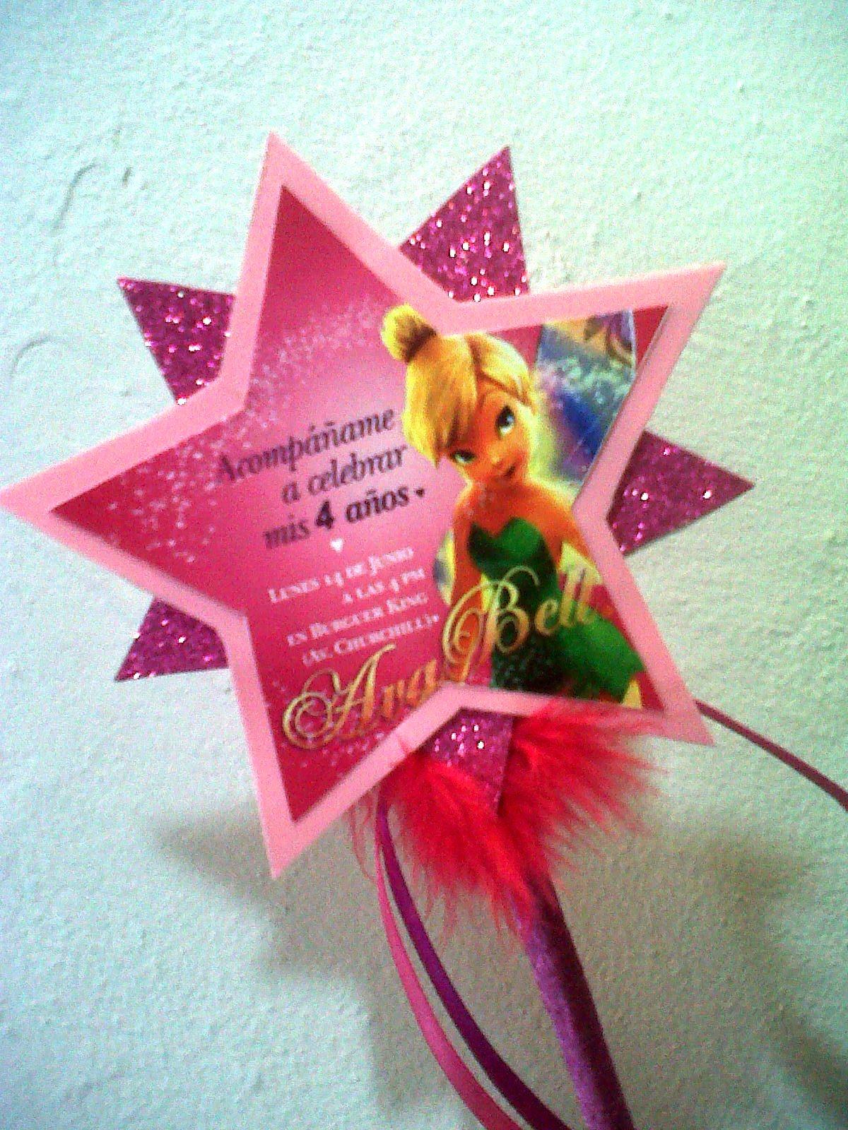 Events crafts birthday tinkerbell invitaciones - Invitacion para cumpleanos ...