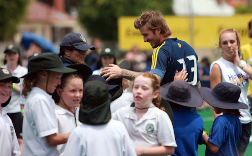 David Beckham is considered to be a good role model by many young boys in Britain