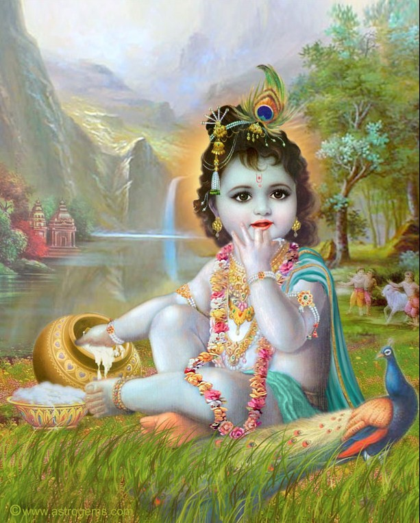 Beautiful Flowers: Lord baby Krishna