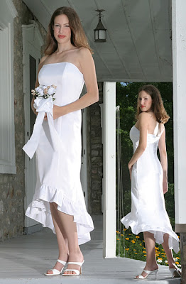 Informal wedding dress