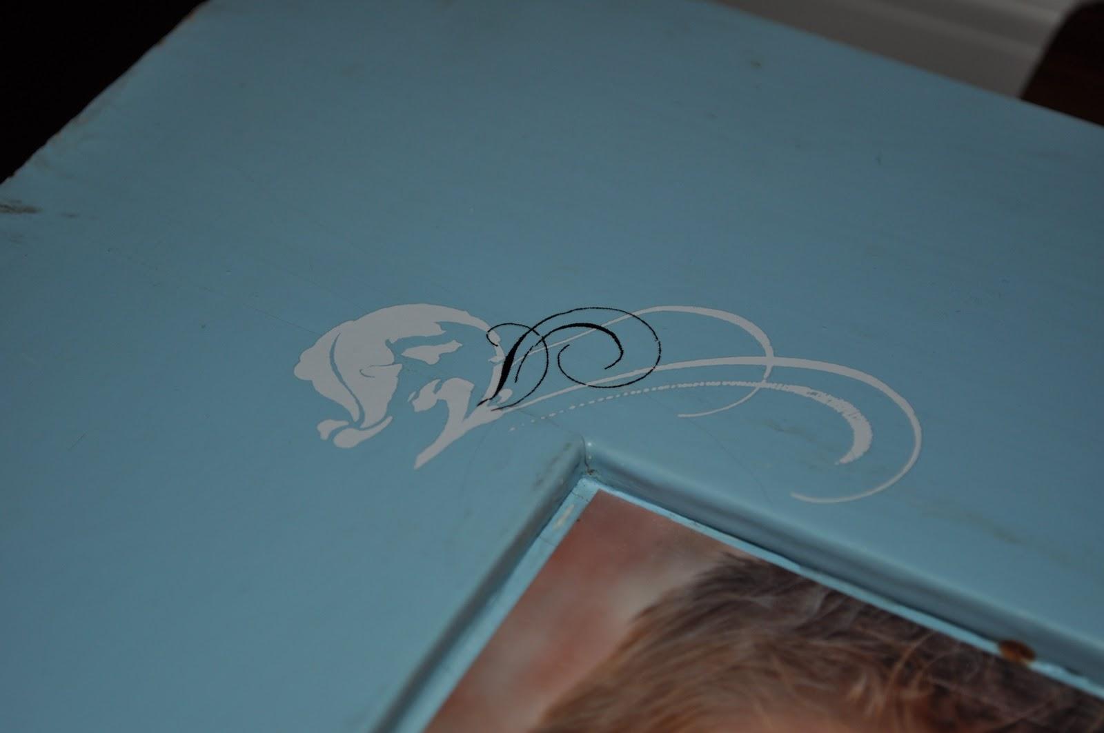 Cassandra Design: Blue Cupboard Door Picture Frame