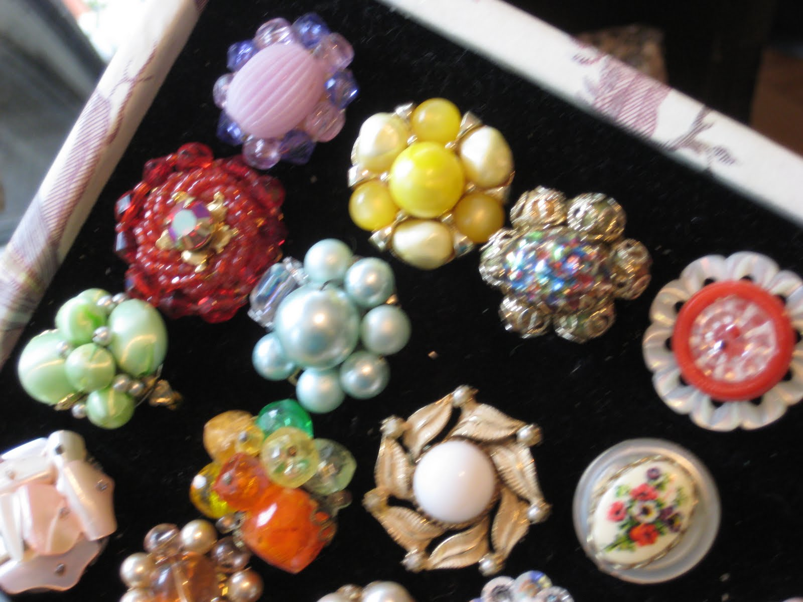 C Dianne Zweig Kitsch N Stuff Rings Made From Old Buttons And