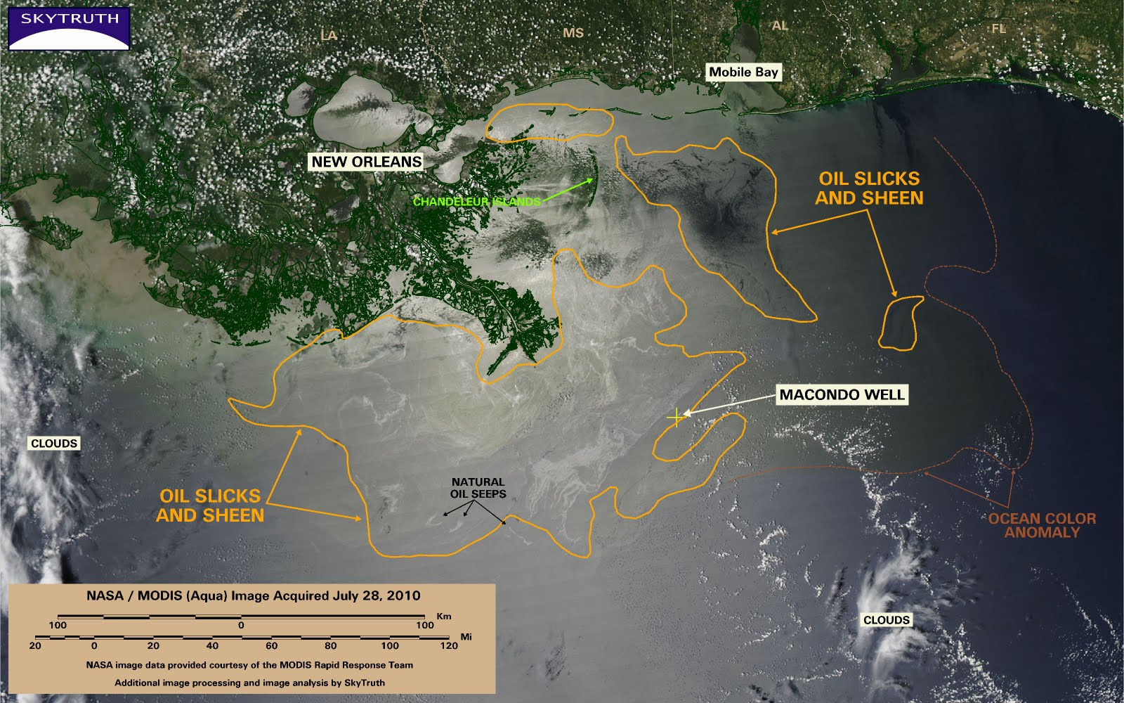 BP Gulf Oil Spill Satellite Image July 28th, 2010