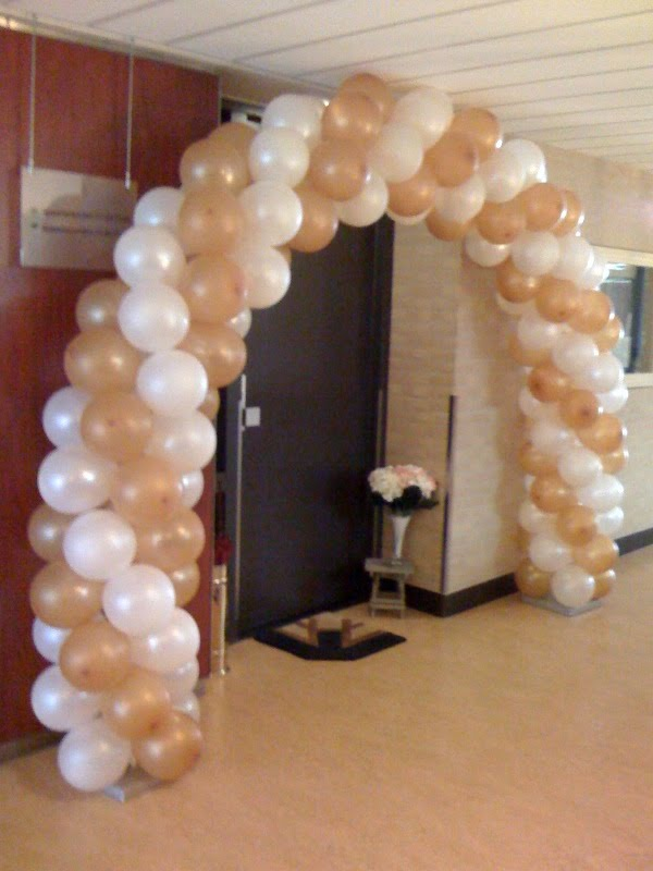 boog 50 jarig huwelijk Ballonnenboog, Heliumballonnen, Bedrukte ballonnen :   boog 50 jarig huwelijk