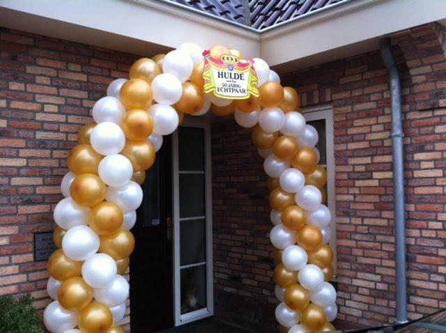 boog voor 50 jarig huwelijk Ballonnenboog, Heliumballonnen, Bedrukte ballonnen :   boog voor 50 jarig huwelijk