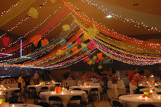 party ideasmardi gras outlet draped poly mesh ceiling