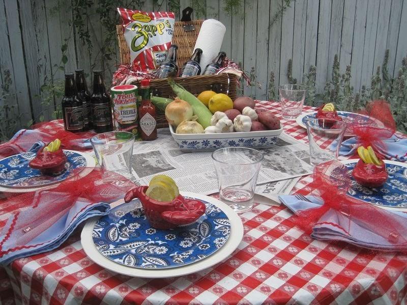 Party Ideas By Mardi Gras Outlet Crawfish Boil Tablescape