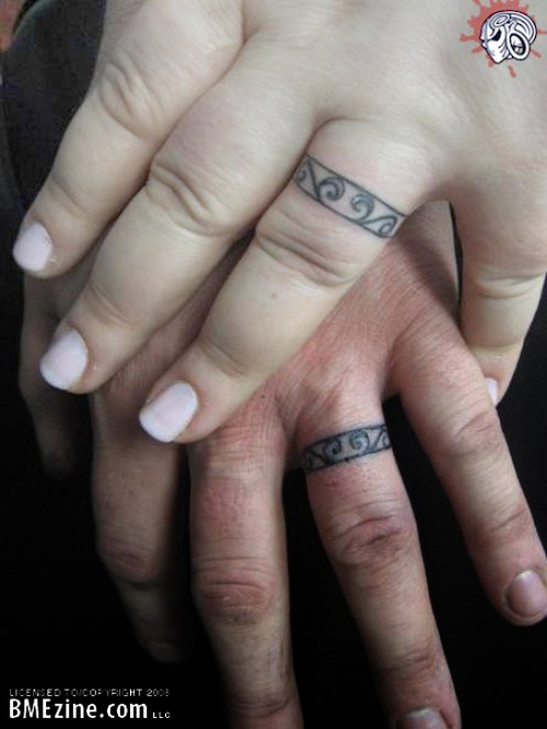 Tattoos Designs And Ideas: Best art wedding ring tattoo designs ...