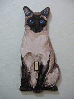 cat shaped light switch plate by Helen