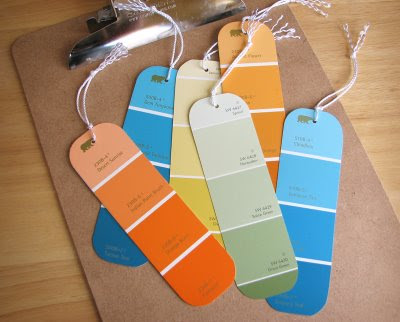 Paint Swatch Bookmarks