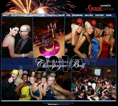 Site Launch: Champagne Ball