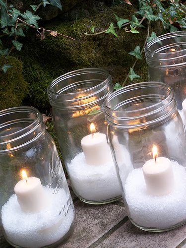 Epsom Salt Snow Candles
