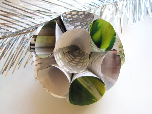 DIY Recycled Paper Christmas Ornaments