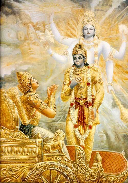 Image result for Bhagvad Gita Krishna and Arjuna