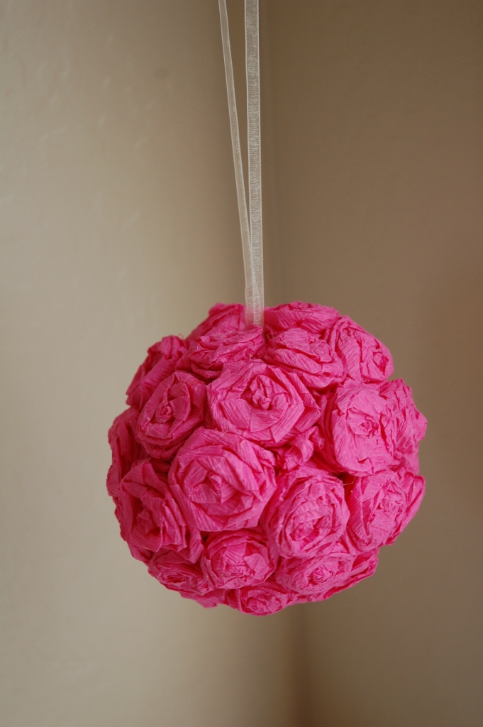 Knocking It Off How To Crepe Paper Rose Pomander Ball And Topiary