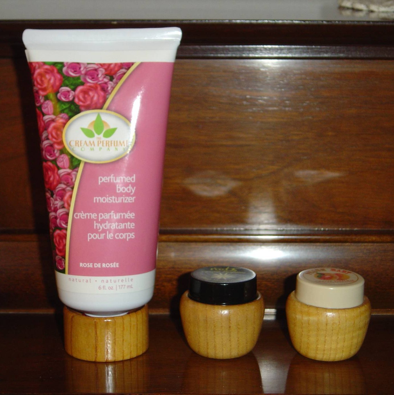 THE CREAM PERFUME COMPANY Rose Perfumed Body Moisturizer and two solid perumes