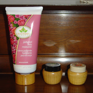THE CREAM PERFUME COMPANY Rose Perfumed Body Moisturizer and two solid perumes.jpeg