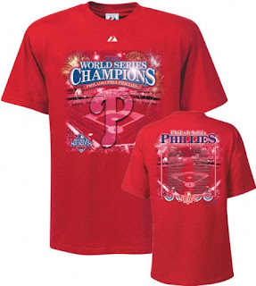Philadelphia Phillies Victory 2008 World Series Champions Roster Tee Shirt e66f2050f97