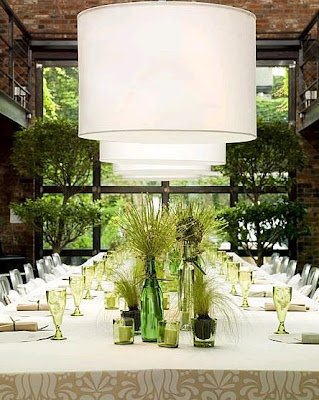 organic enterteinment decor inspirations via belle vivir blog