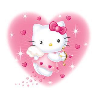 Gambar Hello Kitty Pink Love