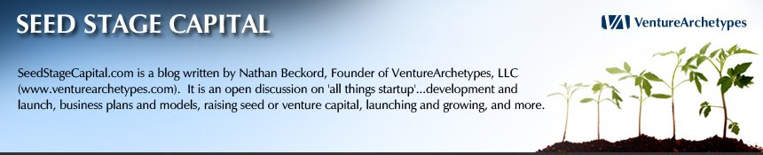 VentureArchetypes Blog: Seed Stage Capital: Startup