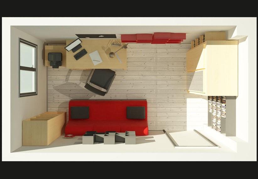 Architecte int rieur 3d divers propo pour am nagement - Amenagement bureau chambre d amis ...