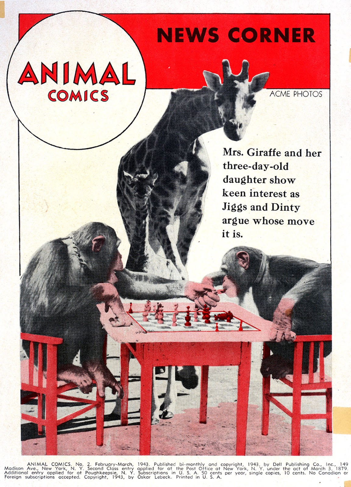 Read online Animal Comics comic -  Issue #2 - 2