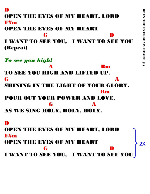 OPEN THE EYES OF MY HEART- lyrics and chords ~ Faith and Music