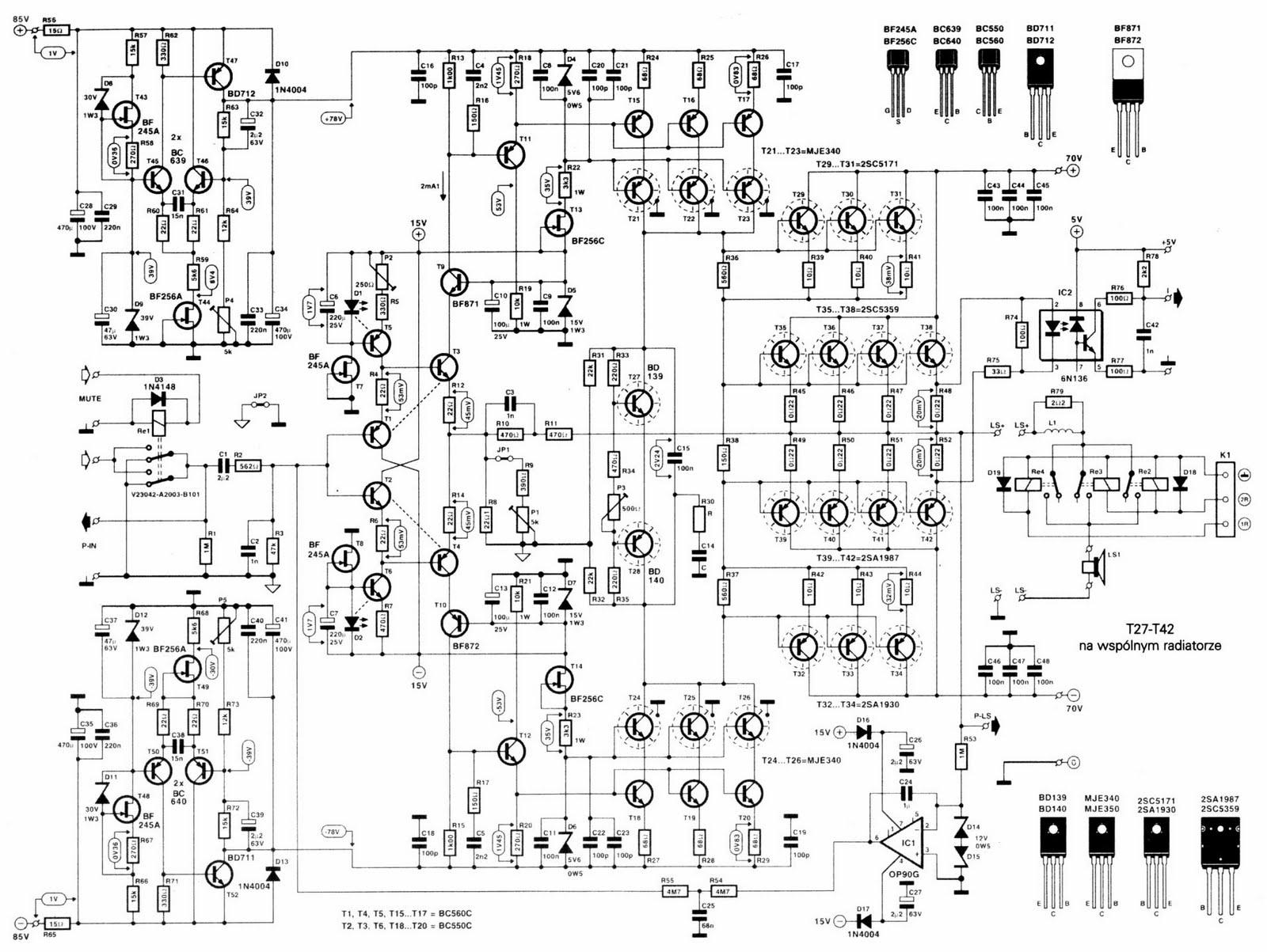 Ro Electronica Schema Amplificator Audio W