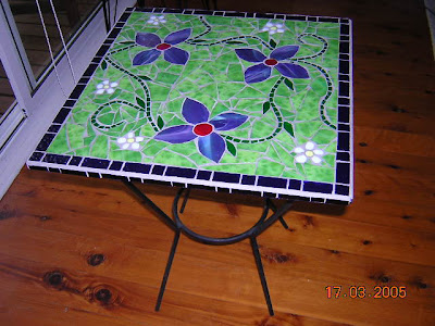 Blooming Mosaics: Small bistro table