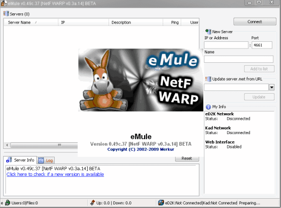 BETA - Leecher Mods - eMule 0 49c NetF WARP 0 3a 14