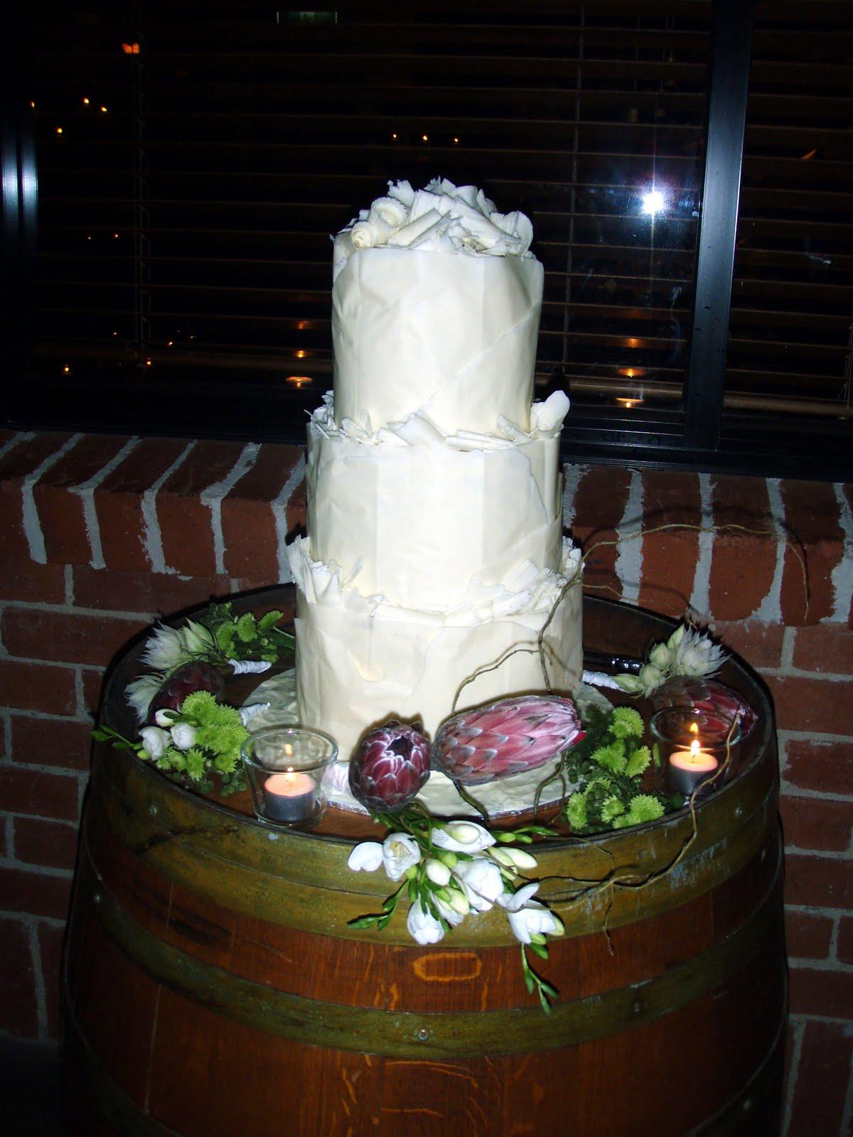 Caketopia White Chocolate Wrapped Wedding Cake