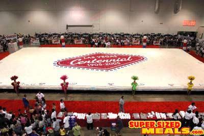 Worlds Largest Sheet Cake