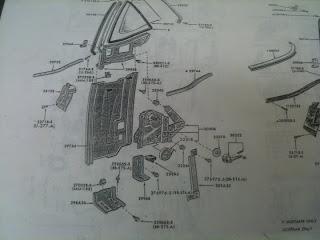 1966 mustang door diagram james' 66 mustang convertible restoration: drivers side ...