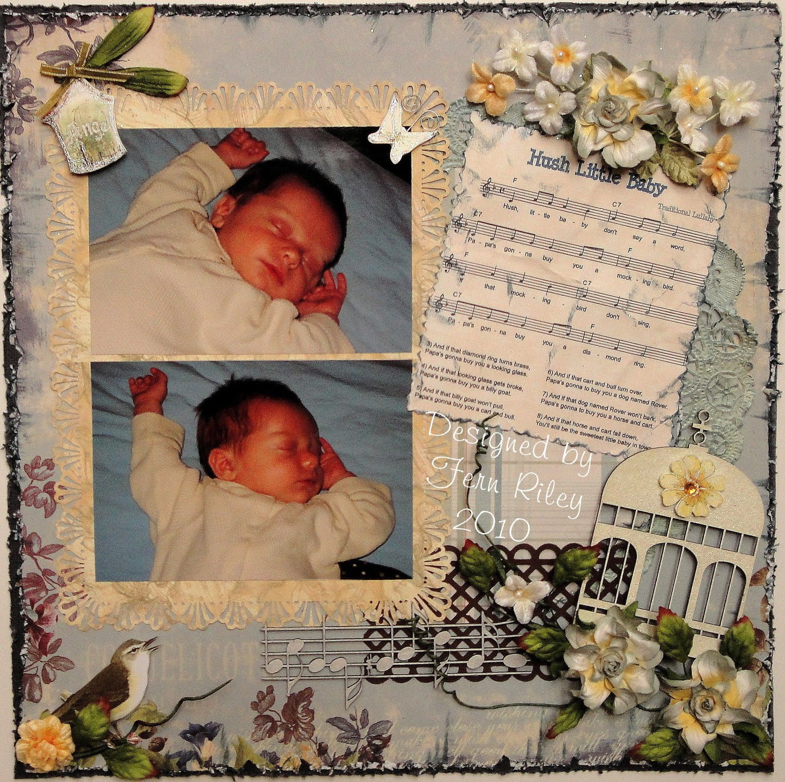 Fern S Creations Hush Little Baby Sketches In Thyme Challenge Top 5 Winner At Cupcake