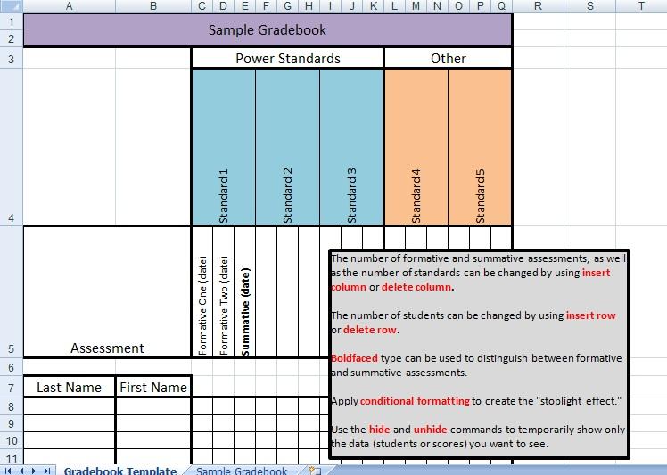 free excel gradebook template - grade book template