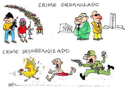 Resultado de imagem para crime organizado charges