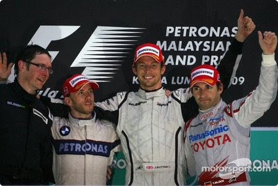 Podio GP Malasia 2009