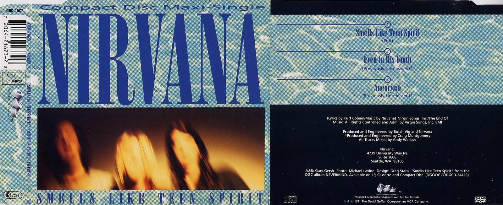 Nirvana Smells Like Teen Spirit Single 108
