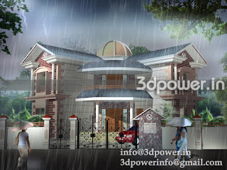 """3d image of roof pattern bungalow"""