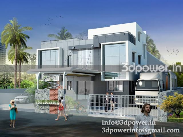 """""""3d rendering exterior industrial office"""""""